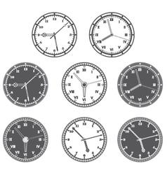 Hours set vector image vector image