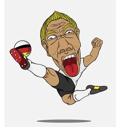soccer player German vector image