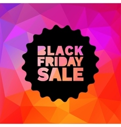 Black Friday Sale label stamp on geometric bright vector image vector image