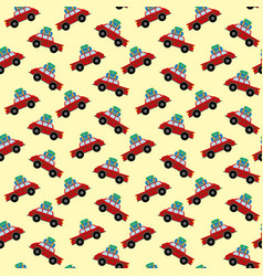 car with luggage pattern vector image vector image
