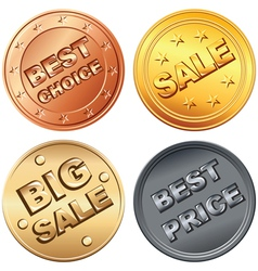 coin price tags vector image vector image