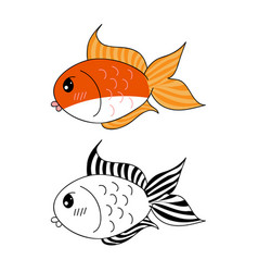 cute goldfish vector image