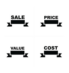price tags set sell price value cost vector image