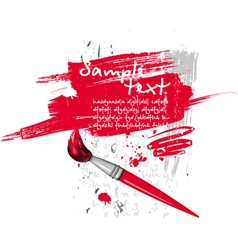 red brush vector image vector image