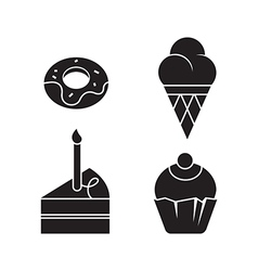 Sweets Silhouettes vector image