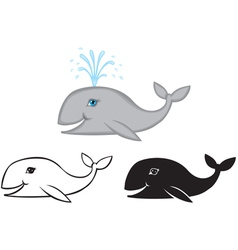 whale set vector image vector image