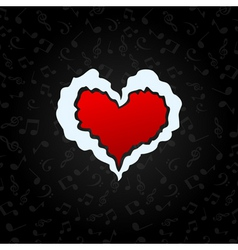 love to music vector image vector image
