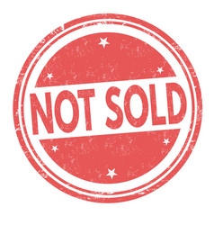 still not sold grunge rubber stamp vector image