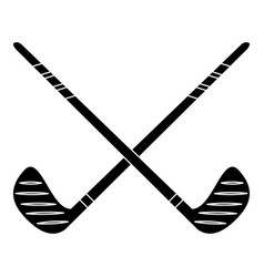 crossed stick hockey sport pictogram vector image vector image