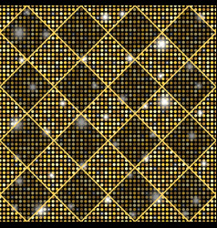 golden seamless chess styled vintage texture with vector image vector image