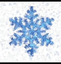 Seamless pattern geometric snowflake vector image vector image