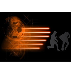soccer modern background grey vector image vector image