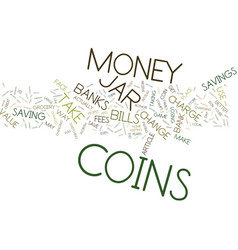 the money jar trap text background word cloud vector image