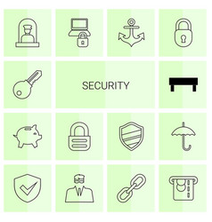 14 security icons vector