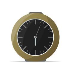 Analog kitchen clock icon vector