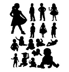 baand kid detail silhouettes vector image