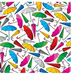 background pattern with umbrella vector image vector image