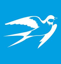 Barn swallow icon white vector