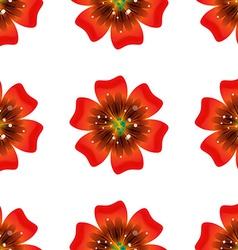 Beautiful orange flower Seamless floral pattern vector