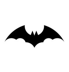 Black bat silhouette on white background vector