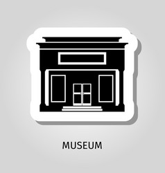 black museum building web sticker vector image
