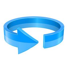 Blue 3d arrow horizontal circle vector