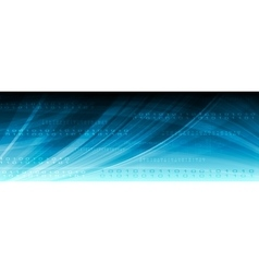 Blue web tech binary code header vector image