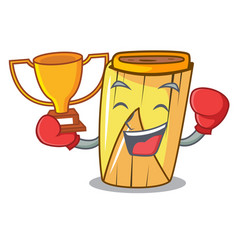 Boxing winner tamale with corn leaf in cartoon vector