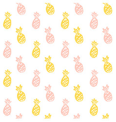brush pineapple seamless pattern vector image