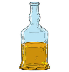 cartoon drawing whiskey or hard liquor bottle vector image