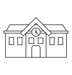 Chapel icon outline style vector