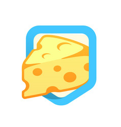 Cheese maasdam - logo vector
