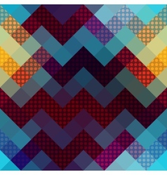 Chevron pattern with dots vector