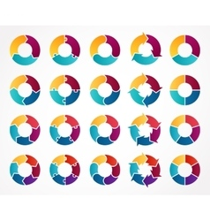 Circle arrows infographic Template for vector