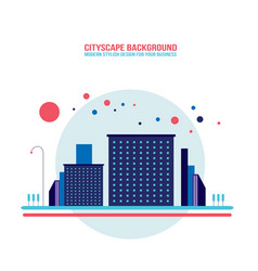 cityscape background architecture modern flat vector image
