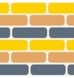 Color bricks seamless pattern vector image