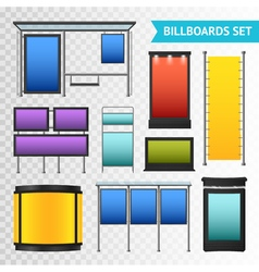 Colorful Promotional Billboards Set vector image