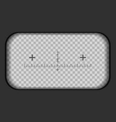 Creative of binoculars view vector