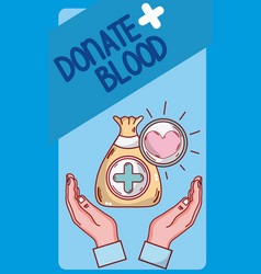 donate blood card vector image