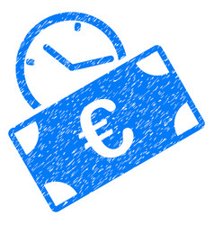 Euro recurring payment grunge icon vector