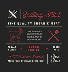 fine quality goatling fillets restaurant signs vector image