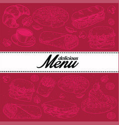 food vintage set vector image