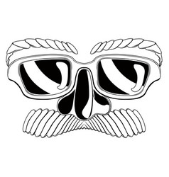 funny mask silhouette vector image