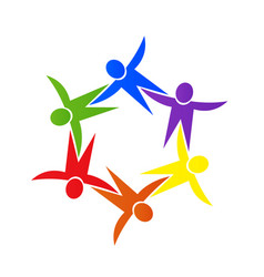 group teamwork people strong partnership vector image
