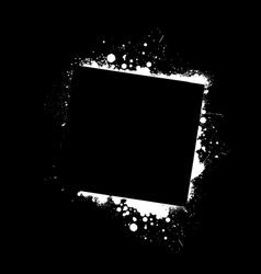 grunge frame black vector image