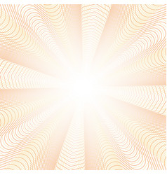 guilloche radiant beams background vector image