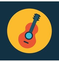 guitar design vector image vector image