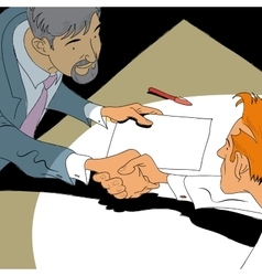 Handshake business deal vector