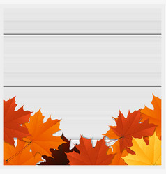 Hello autumn background with colorful leaves vector