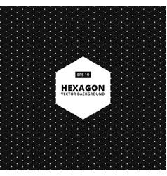 hexagon seamless pattern modern stylish texture vector image